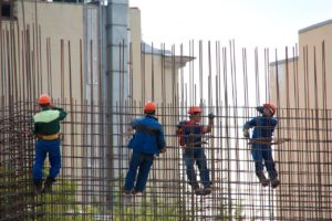 steelworkers, concrete, formwork